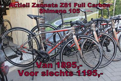 Zannata Z81 Full Carbon 105 R7000 Alleen nog maat XS 42cm  ACTIE ACTIE  Van 1895,- voor 1195,-